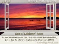 God's 'Sabbath' Rest